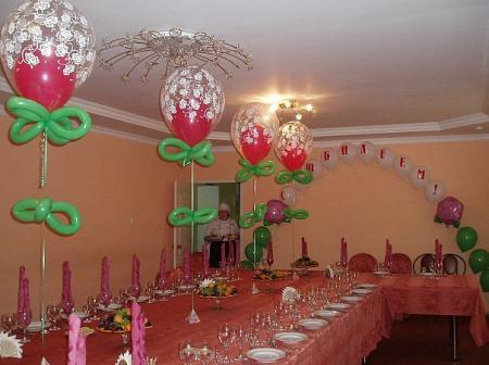 Как украсить зал к юбилею 60 лет